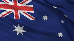 Seamless loop of the Australian Flag waving in the wind stock footage