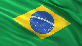 Seamless loop of Brazilian flag Royalty Free Stock Image