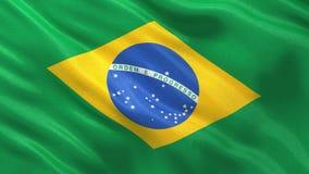 Seamless loop of Brazilian flag stock video footage
