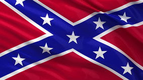 Seamless loop of the Confederate Flag. Waving in the wind stock footage