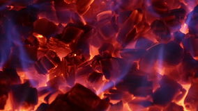 Seamless loop of ember in a fireplace Stock Photography