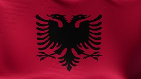 Seamless Loop Flag of Albania. High detailed waving flag of different countries from all over the world stock footage
