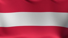 Seamless Loop Flag of Austria. High detailed waving flag of different countries from all over the world stock footage