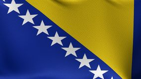 Seamless Loop Flag of Bosnia stock footage