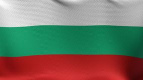 Seamless Loop Flag of Bulgaria. High detailed waving flag of different countries from all over the world stock footage