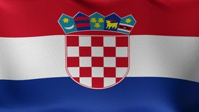Seamless Loop Flag of Croatia stock footage