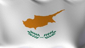 Seamless Loop Flag of Cyprus. High detailed waving flag of different countries from all over the world stock footage