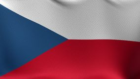 Seamless Loop Flag of Czech Republic stock video footage