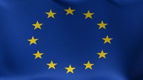 Seamless Loop Flag of the European Union stock footage