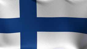 Seamless Loop Flag of Finland stock footage