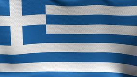 Seamless Loop Flag of Greece stock video footage