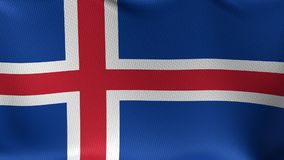 Seamless Loop Flag of Iceland stock video