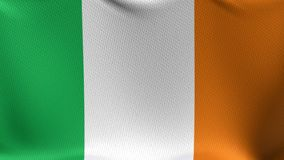 Seamless Loop Flag of Ireland stock video