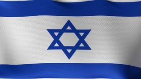 Seamless Loop Flag of Israel stock video footage