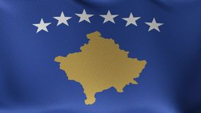 Seamless Loop Flag of Kosovo stock footage