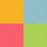 Seamless loop spiral patterns in multiple color Royalty Free Stock Photo
