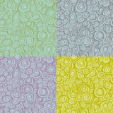 Seamless loop spiral patterns in multiple color Royalty Free Stock Photography