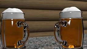 Seamless loopable rotating glass of beer stock video