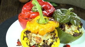 Seamless Loopable Stuffed Peppers Stock Image