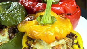 Seamless Loopable Stuffed Peppers Royalty Free Stock Photos