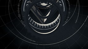 Seamless looped abstract tunnel motion graphics stock video footage