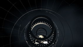 Seamless looped abstract tunnel motion graphics stock video