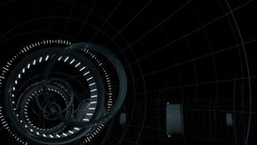 Seamless looped abstract tunnel motion graphics stock footage