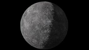 Seamless looped animation of rotation of the Mercury. Isolated