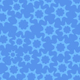 Seamless Looped Pattern in Cold Blue. Color with Style Stars Ornament. Vector Illustration stock illustration
