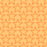 Seamless Looped Pattern with Orange Stars. Seamless Looped Pattern with Stars. Vector Orange Background vector illustration