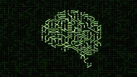 Seamless looping animation of a brain circuit board. 16-Bit. 4K UHD stock video footage