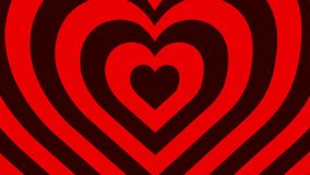 Seamless looping animation of Red and Dark red hearts growing. Perfect High-quality background for Saint Valentine`s Day or love and passion themed footages stock video footage