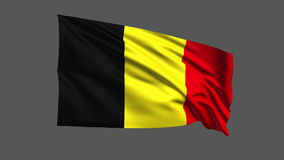 Seamless looping Belgium flag waving in the wind,Alpha channel is included Stock Images
