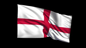 Seamless looping England flag waving in the wind Alpha channel is included Royalty Free Stock Photo