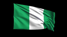 Seamless looping Federal Republic of Nigeria flag  stock video footage