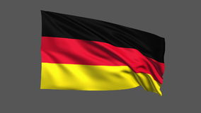 Seamless looping Germany flag waving in the wind,Alpha channel is included Stock Photography
