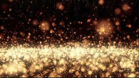 Seamless looping glitter particles with copy space. 4K UHD animation rendered at 16-bit color depth. Broadcast quality stock footage