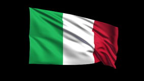 Seamless looping Italian Republic flag waving in t stock footage