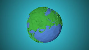 Seamless looping low poly 3d world. Bright, graphic Style stock footage
