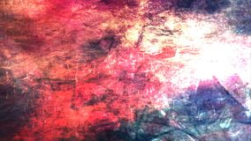Abstract Red and Pink Grungy Texture with Rotating Black Pointed Stars - 4K Seamless Loop Motion Background Animation. This seamless looping motion background stock video footage