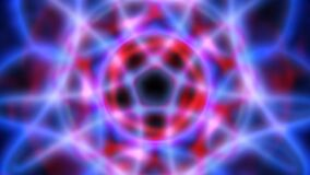 Blurred glowing abstract fractal light energy shapes rotating - 4K Seamless Loop Motion Background Animation