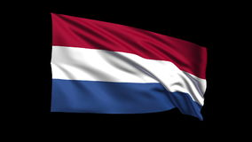 Seamless looping Netherlands flag waving in the wi