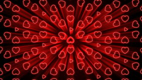 Seamless Looping Red and White Heart Animated Background stock footage