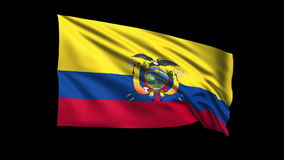 Seamless looping Ecuador flag waving in the wind Royalty Free Stock Image