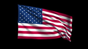 Seamless looping USA  flag waving in the wind,Alph stock footage