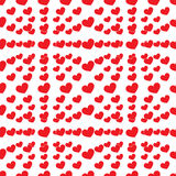 Seamless lot of heart Royalty Free Stock Photography