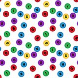 Seamless lotto pattern isolated on white background.Bingo. Seamless lotto pattern isolated on white background vector illustration