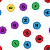 Seamless lotto pattern on white background.Bingo. Seamless lotto pattern on white background stock illustration