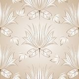 Seamless lotus flower background Stock Photography