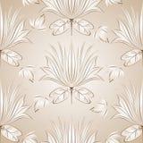 Seamless lotusblommablommabakgrund Arkivbild